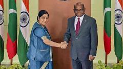 Swaraj meets top Maldivian leadership; discusses cooperation in defence, health