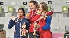 Mehuli wins silver in Women's Air Rifle