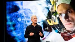 Apple CEO Tim Cook delivers the keynote address at Apple's Worldwide Developer Conference (WWDC) in San Jose, California on June 3, 2019. AFP Photo