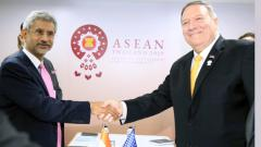 External Affairs Minister Dr S Jaishankar meets US Secretary of State, Michael Pompeo, in Bangkok, on Friday.