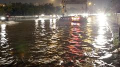 Waterlogging in city due to metro works