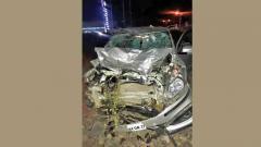 Five killed as car hits three motorcycles