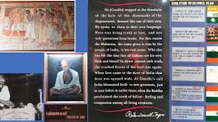 In the footsteps of the Mahatma