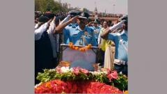 IAF pilot who died in crash cremated with military honours