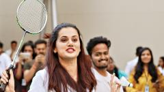 Tapasee breaks ice with fans to seek support for Pune 7 Aces