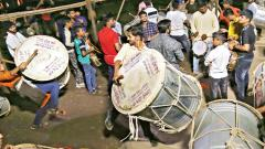 With the arrival of Ganesh festival next month, the Dhol-Tasha troupes have started practising to give Ganpati a grand welcome. Anand Chaini