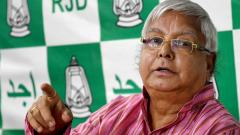 Delhi court grants bail to Lalu, wife and son