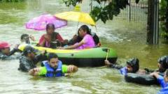 Forces helping  Maha, K'taka authorities