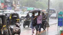 Rain pounds city again