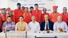 better facilities: Pune DRM Milind Deouskar, Senior Divisional Commercial Manager Krishnath Patil and Gogate Foundation Chairman Arvind Gogate during the programme.