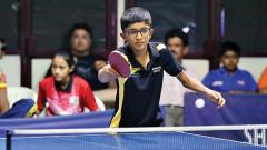 well done: Pranav Gholkar in action against Arnav Zagade on Thursday.