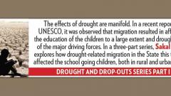 Migrations during droughts are hindering children's basic education