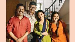 Upendra Limaye inspires Gajraj Rao during a shoot
