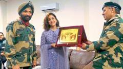 Yami Gautam felicitated by BSF