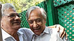 A file photo of CPI(M) General Secretary Sitaram Yechury meeting party leader Yousuf Tarigami in Srinagar on Friday.